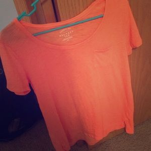 I'm selling a orange v-neck tee from Aeropostale
